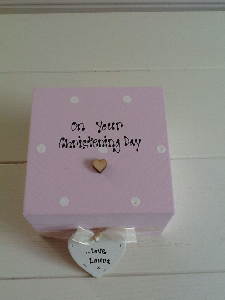 shabby personalised chic christening day baptism goddaughter gift
